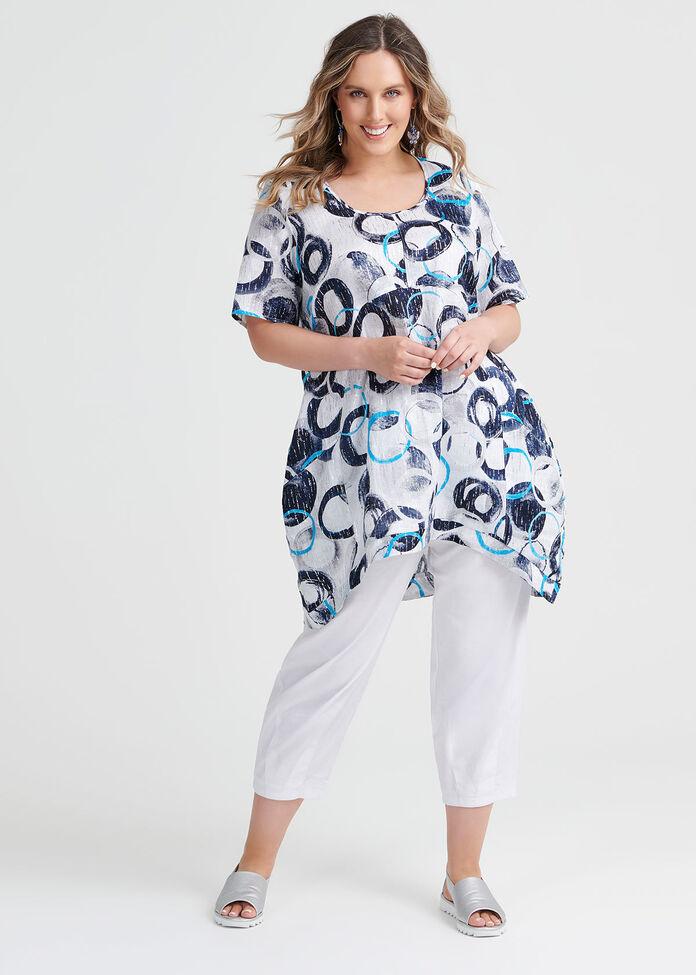 Linen Breezy Tunic, , hi-res