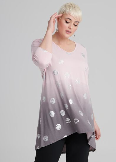 Rose All Day Foil Tunic