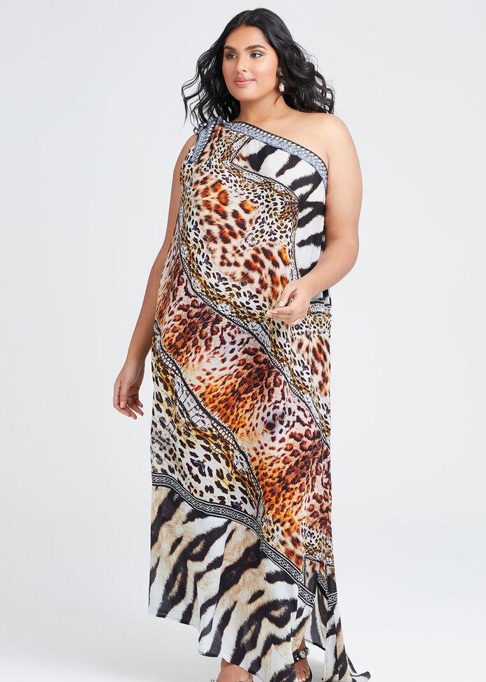 Wild Side Viscose Dress, , hi-res