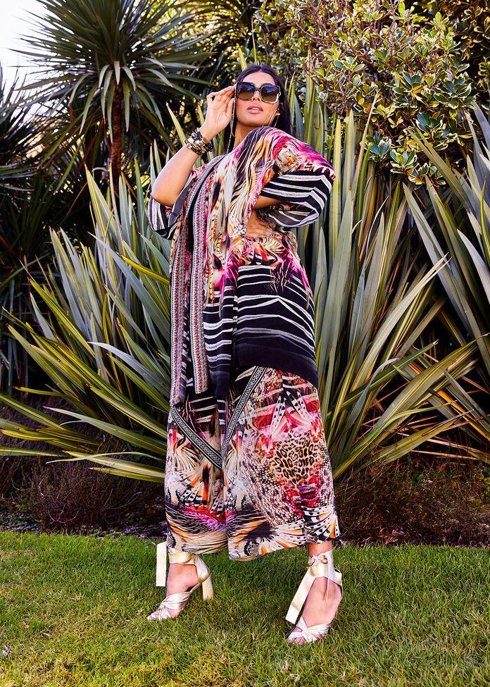 Zanzibar Safari Kimono, , hi-res