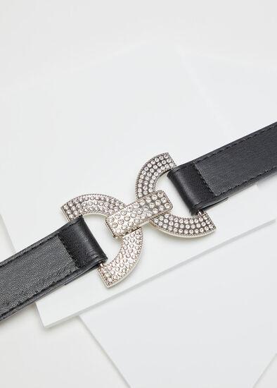 Slim Bling Buckle Elastic Belt