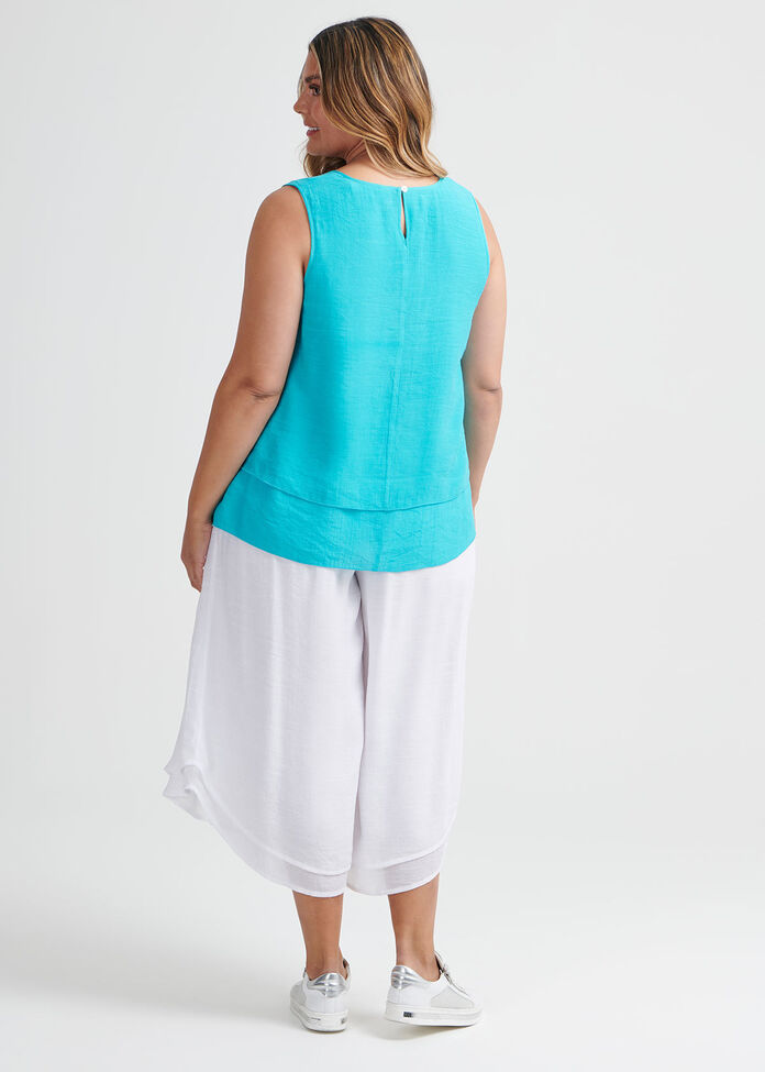 Layered Sleeveless Top, , hi-res