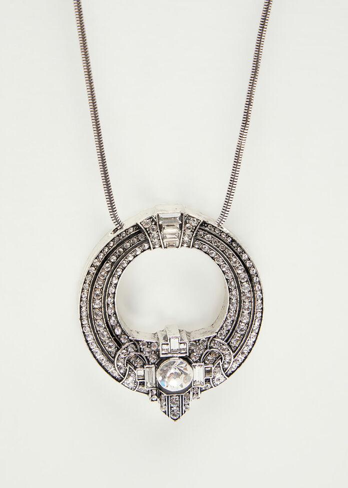 Silver Crystal Necklace, , hi-res