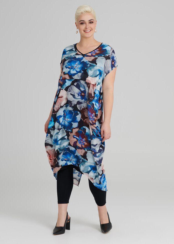 Jardin Print Dress, , hi-res
