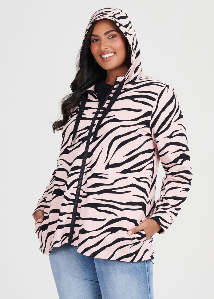 Organic Zebra Hooded Top, , hi-res