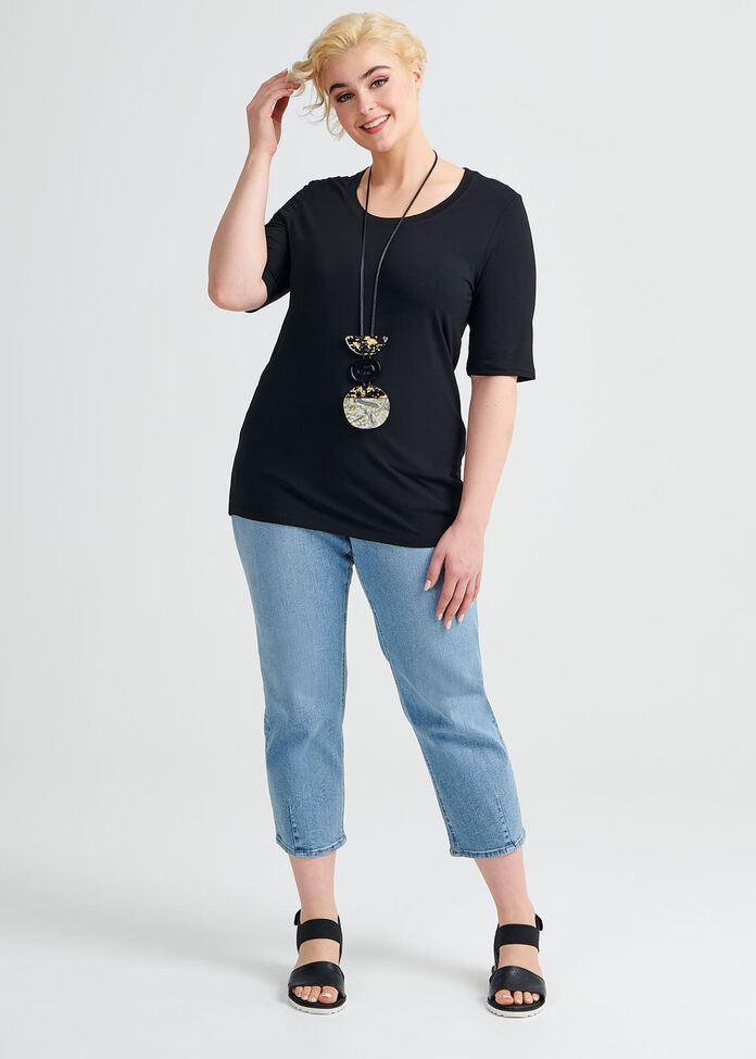 Bamboo Body S/s Top, , hi-res