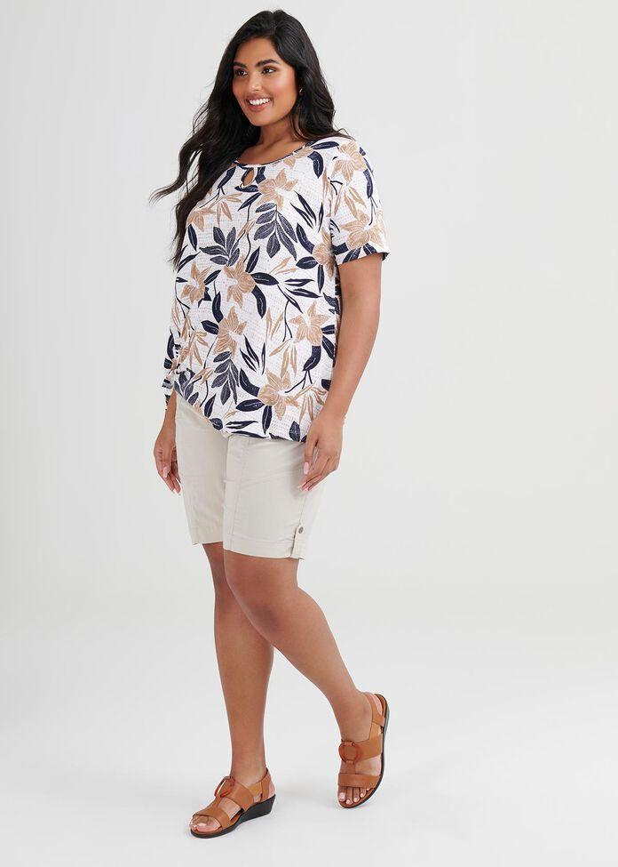 Linen Knit Sun Valley Top, , hi-res