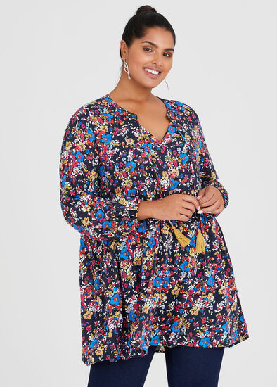 Natural Floral Tunic