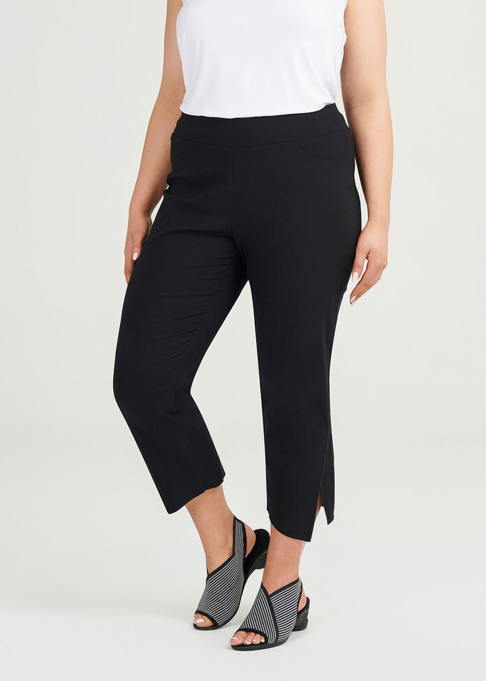 Timeless Cotton Crop Pant, , hi-res