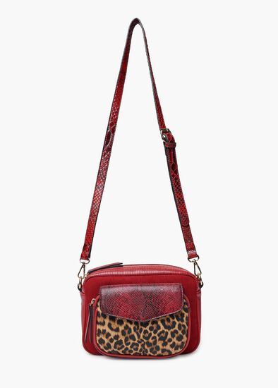 Riley Red Animal Xbody Bag