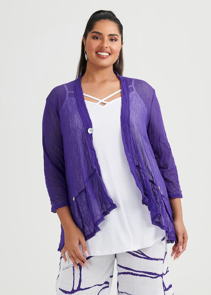 Mad About Hue Mesh Cardi, , hi-res