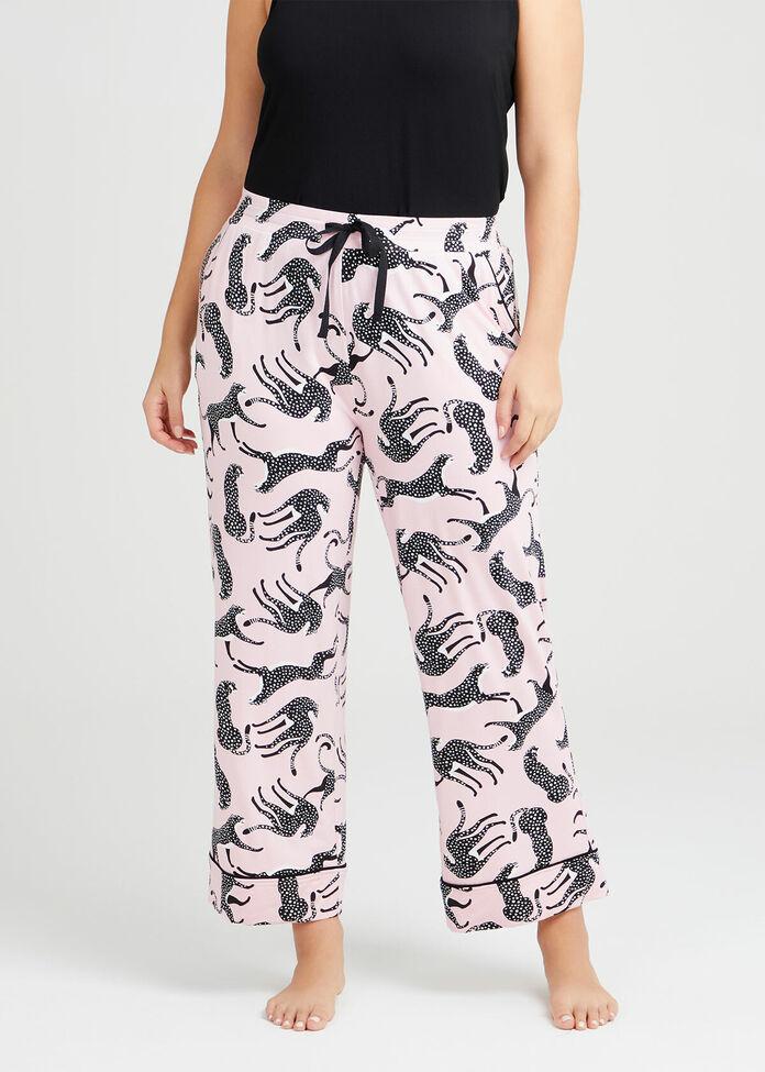 Bamboo Leopard PJ Crop Pant, , hi-res
