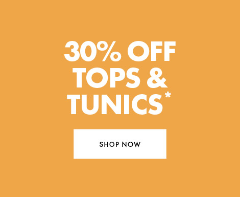 30% off full priced tops