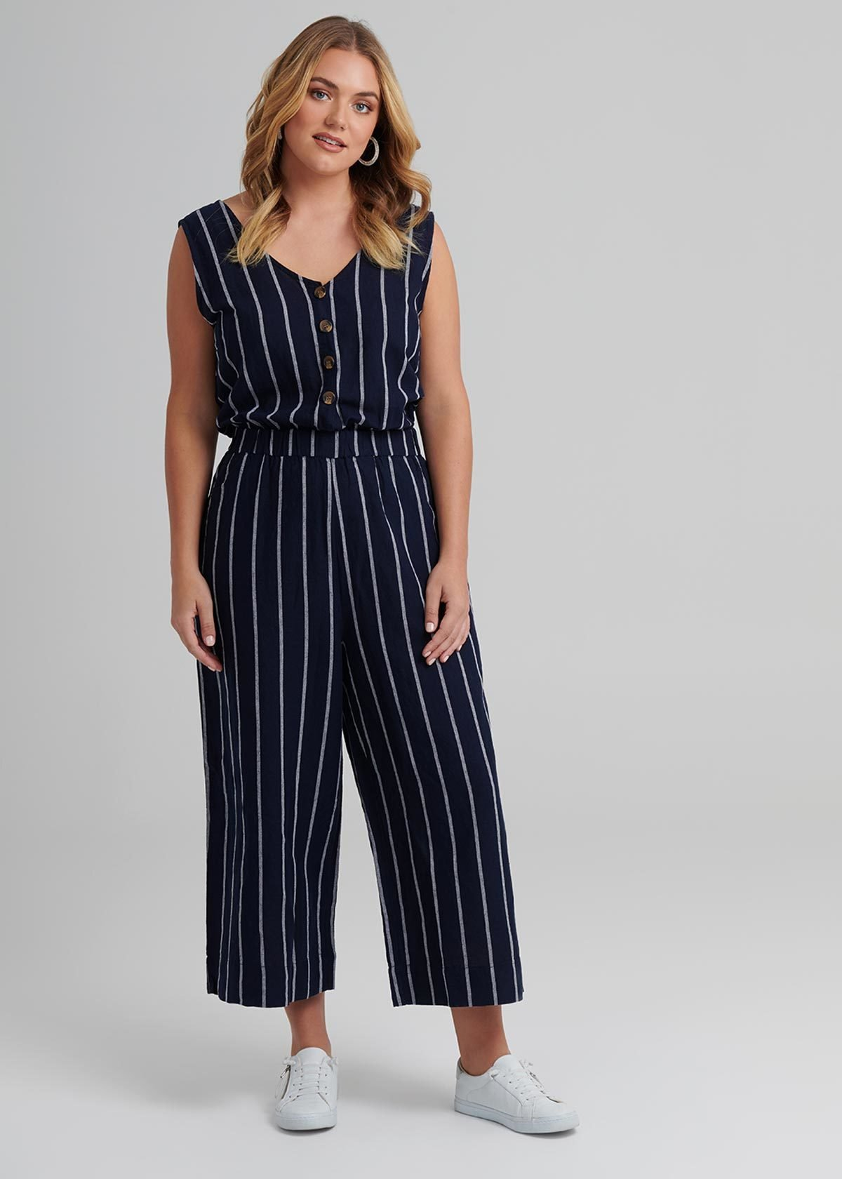 Taking Shape High Tide Linen Jumpsuit | Beanstalk Mums